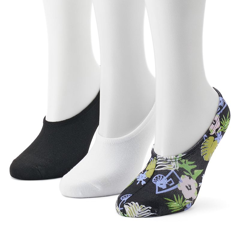 Women's Converse Made for Chucks 3 Pack Floral Liner Socks