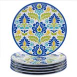 Certified International Martinique 6-piece Melamine Dinner Plate Set