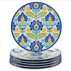 Certified International Martinique 6-piece Melamine Dinner Plate Set