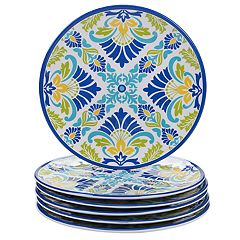 Certified International Martinique 6-piece Melamine Salad Plate Set