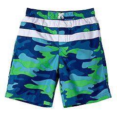 Boys 4-7 I-Extreme Camouflaged Swim Trunks