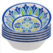 Certified International Martinique 6-piece Melamine All-Purpose Bowl Set