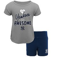 Toddler New York Yankees Awesome Tee & Yoga Shorts Set