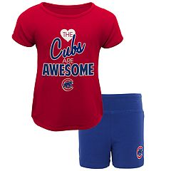 Toddler Chicago Cubs Awesome Tee & Yoga Shorts Set