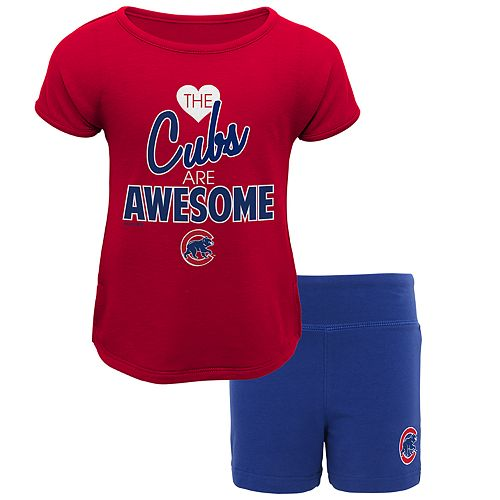 online store ab762 15efd Toddler Chicago Cubs Awesome Tee & Yoga Shorts Set