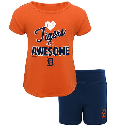 Toddler Detroit Tigers Awesome Tee & Yoga Shorts Set