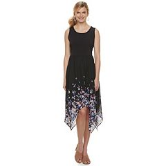 Women's ELLE™ Print Handkerchief Hem Tank Dress