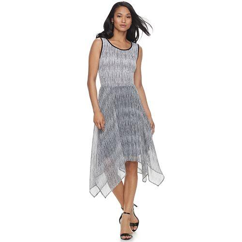 Women's ELLE™ Print Handkerchief Hem Tank Dress