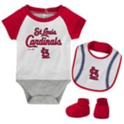 Baby St. Louis Cardinals  Bodysuit, Bib & Booties Set