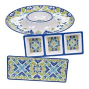 Certified International Martinique 3-piece Melamine Hostess Set