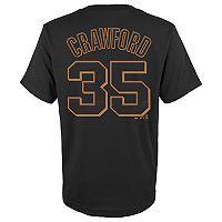 Boys 4-18 San Francisco Giants Brandon Crawford Player Name and Number Tee