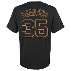 Boys 4-18 San Francisco Giants Brandon Crawford Player Name and Number Tee