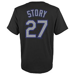 Boys 4-18 Colorado Rockies Trevor Story Player Name and Number Tee