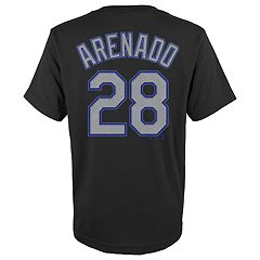 Boys 4-18 Colorado Rockies Nolan Arenado Player Name and Number Tee