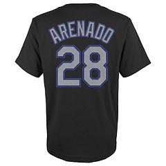 Boys 4-18 Colorado Rockies Nolan Arenado Player Name and Number Tee