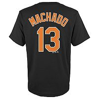 Boys 4-18 Baltimore Orioles Manny Machado Player Name and Number Tee
