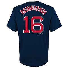Boys 4-18 Boston Red Sox Andrew Benintendi Player Name and Number Tee