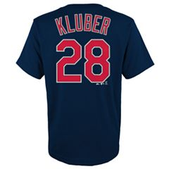 Boys 4-18 Cleveland Indians Corey Kluber Player Name and Number Tee
