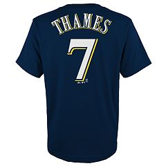 Boys 4-18 Milwaukee Brewers Eric Thames Player Name and Number Tee