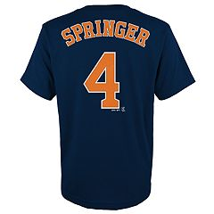 Boys 4-18 Houston Astros George Springer Player Name and Number Tee