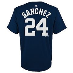 Boys 4-18 New York Yankees Gary Sánchez Player Name and Number Tee