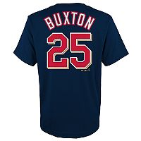 Boys 4-18 Minnesota Twins Byron Buxton Player Name and Number Tee