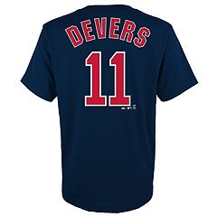 Boys 4-18 Boston Red Sox Rafael Devers Player Name and Number Tee