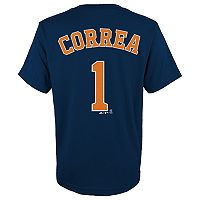 Boys 4-18 Houston Astros Carlos Correa Player Name and Number Tee