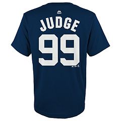 Boys 4-18 New York Yankees Aaron Judge Player Name and Number Tee