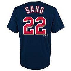 Boys 4-18 Minnesota Twins Miguel Sanó Player Name and Number Tee