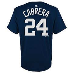 Boys 4-18 Detroit Tigers Miguel Cabrera Player Name and Number Tee