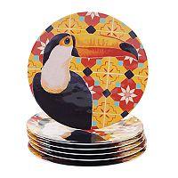 Certified International Paradise 6 pc Melamine Dinner Plate Set