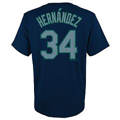 Boys 4-18 Seattle Mariners Félix Hernández Player Name and Number Tee