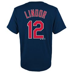 Boys 4-18 Cleveland Indians Francisco Lindor Player Name and Number Tee