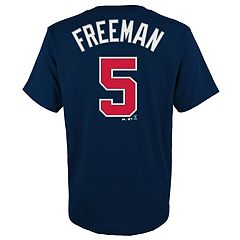 Boys 4-18 Atlanta Braves Sam Freeman Player Name and Number Tee