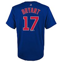 Boys 4-18 Chicago Cubs Kris Bryant Player Name and Number Tee