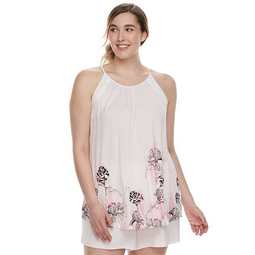 3fef5e980ac3ea Plus Size Apt. 9® Lace Trim Sleep Tank   Sleep Shorts Set