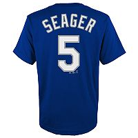 Boys 4-18 Los Angeles Dodgers Corey Seager Player Name and Number Tee