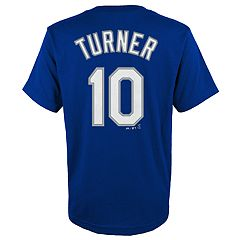 Boys 4-18 Los Angeles Dodgers Justin Turner Player Name and Number Tee