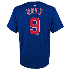 Boys 4-18 Chicago Cubs Javier Báez Player Name and Number Tee