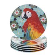 Certified International Paradise 6-piece Melamine Salad Plate Set