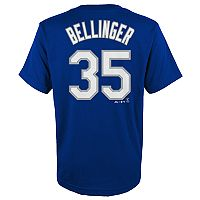 Boys 4-18 Los Angeles Dodgers Cody Bellinger Player Name and Number Tee