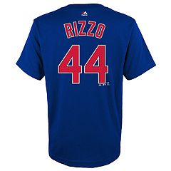 Boys 4-18 Chicago Cubs Anthony Rizzo Player Name and Number Tee