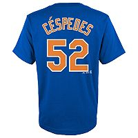 Boys 4-18 New York Mets Yoenis Céspedes Player Name and Number Tee