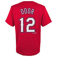 Boys 4-18 Texas Rangers Rougned Odor Player Name and Number Tee