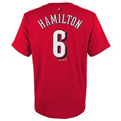 Boys 4-18 Cincinnati Reds Billy Hamilton Player Name and Number Tee