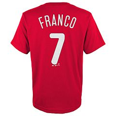 Boys 4-18 Philadelphia Phillies Maikel Franco Player Name and Number Tee