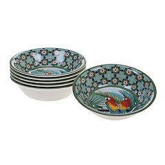 Certified International Paradise 6-piece Melamine All-Purpose Bowl Set