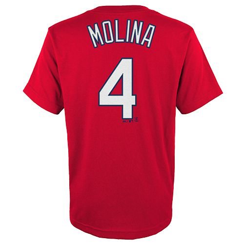 Boys 4-18 St. Louis Cardinals Yadier Molina Player Name and Number Tee