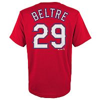 Boys 4-18 Texas Rangers Adrián Beltré Player Name and Number Tee